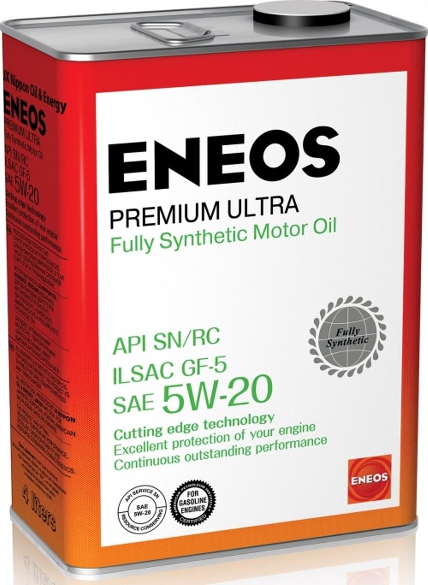 Масло моторное ENEOS Premium Ultra, синтетическое, 5W-20, 4 л масло моторное eneos premium ultra синтетическое 5w 20 4 л