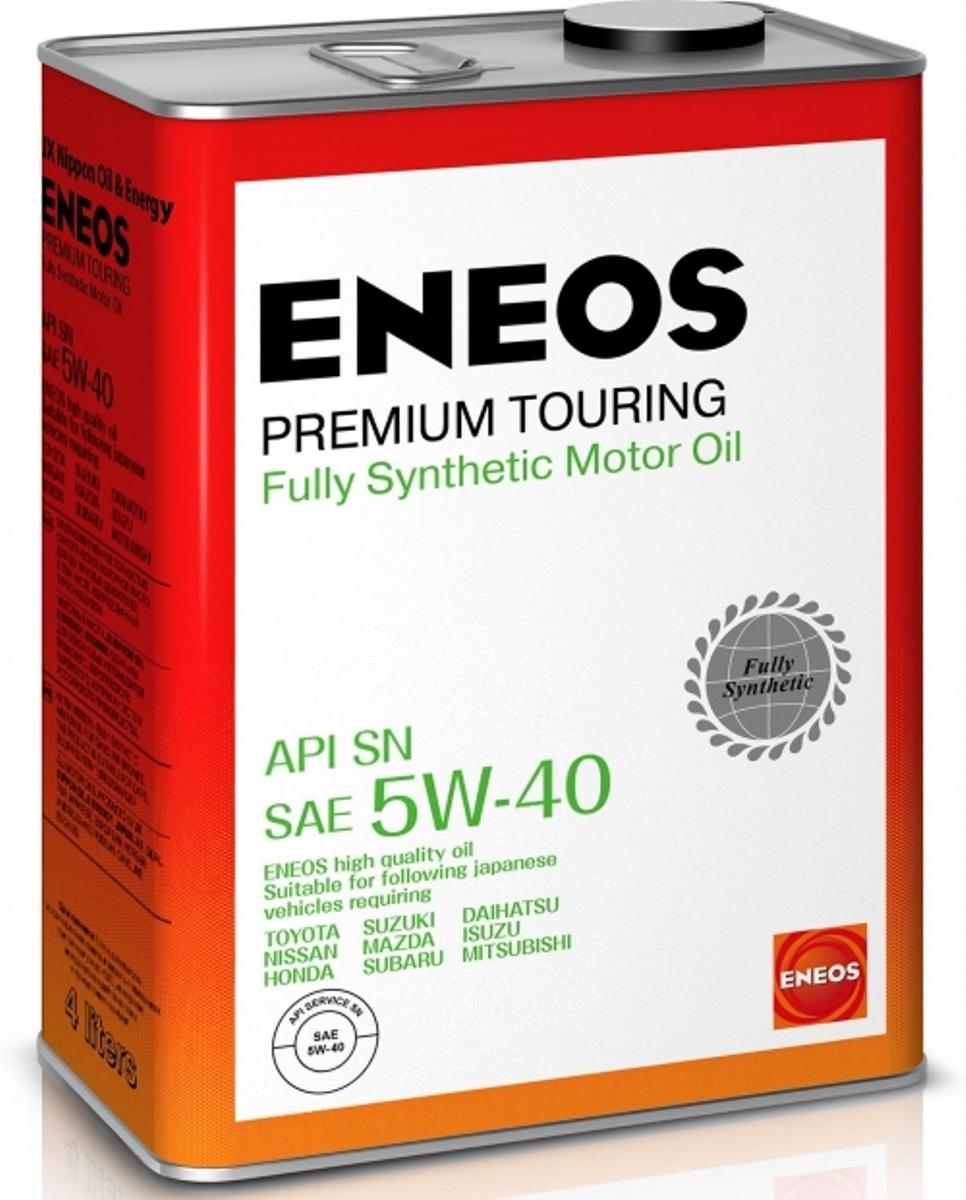 Масло моторное ENEOS Premium Touring, синтетическое, 5W-40, 4 л масло моторное eneos premium ultra синтетическое 5w 20 4 л