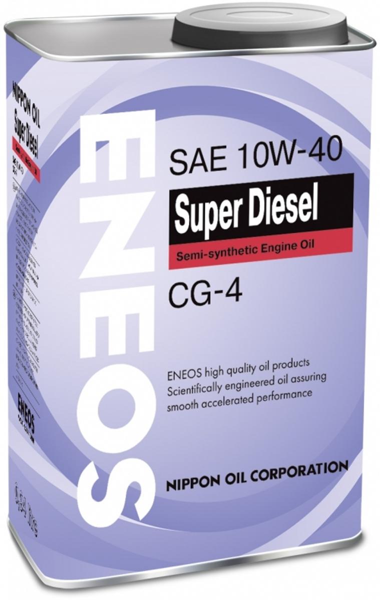 """Масло моторное ENEOS """"Super Diesel CG-4"""", полусинтетическое, 10W-40, 4 л"""