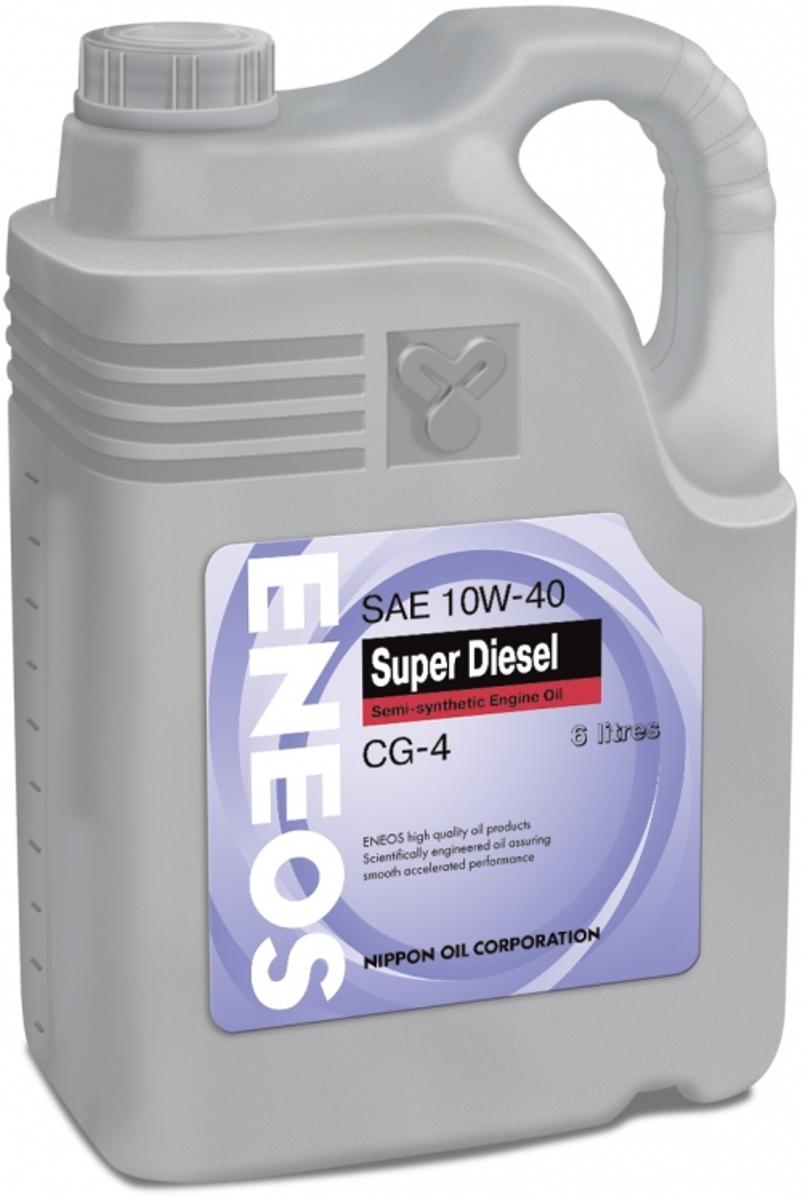 Масло моторное ENEOS Super Diesel CG-4, полусинтетическое, 10W-40, 6 л моторное масло mannol diesel extra 10w 40 для дизельных двигателей 5 л полусинтетическое