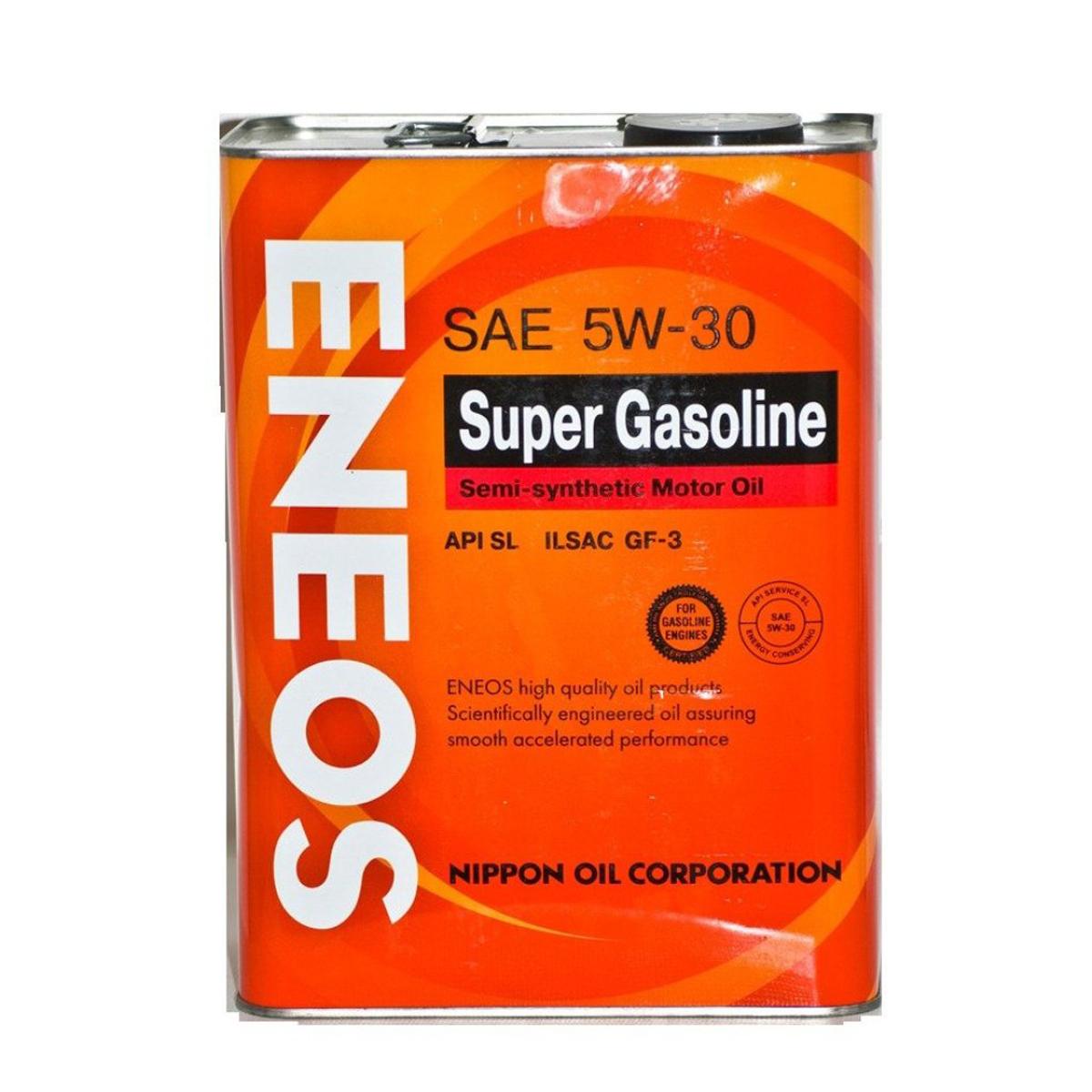"""Масло моторное ENEOS """"Super Gasoline"""", полусинтетическое, 5W-30, 0,94 л"""