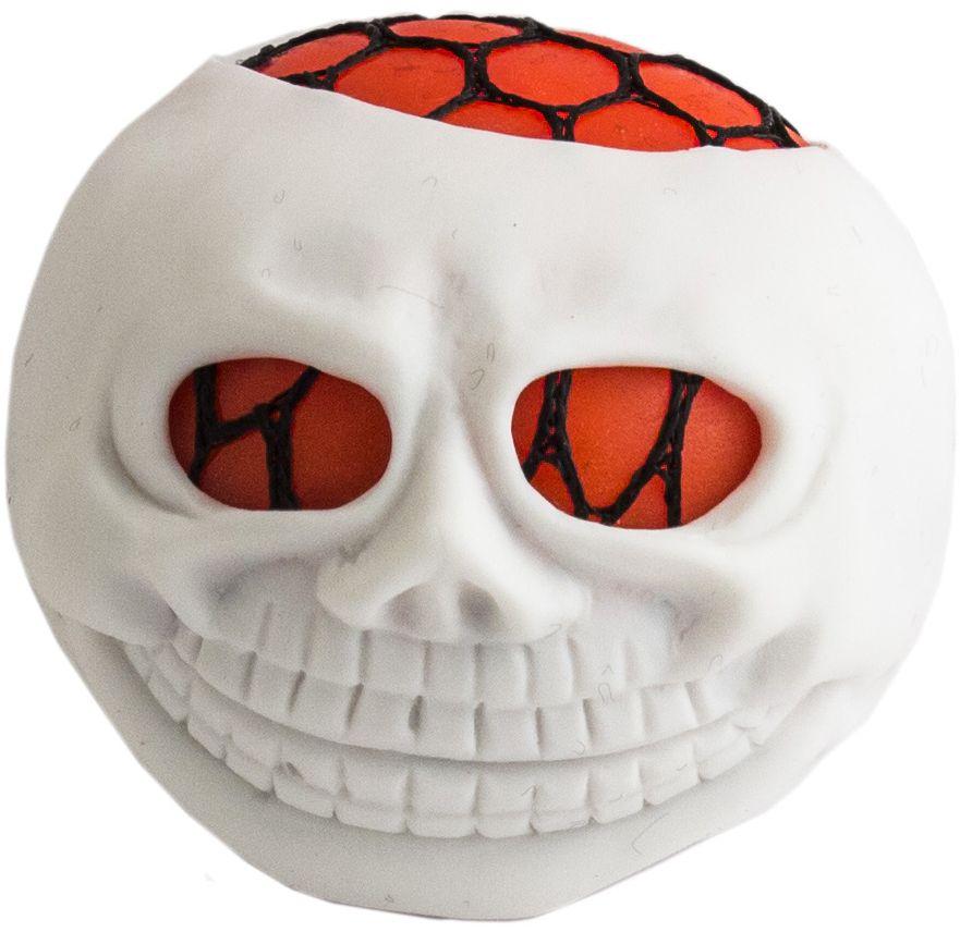 Игрушка-мялка Эврика Голова инопланетянина, цвет: белый цена