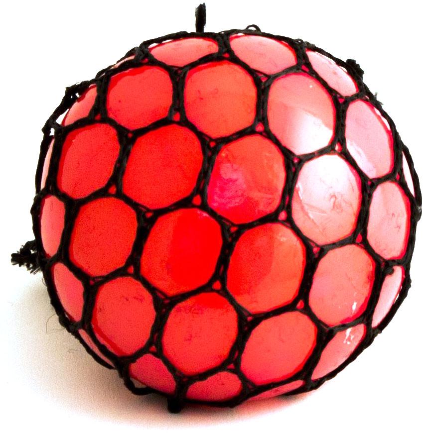 Игрушка-мялка Эврика Шарик, цвет: красный цена