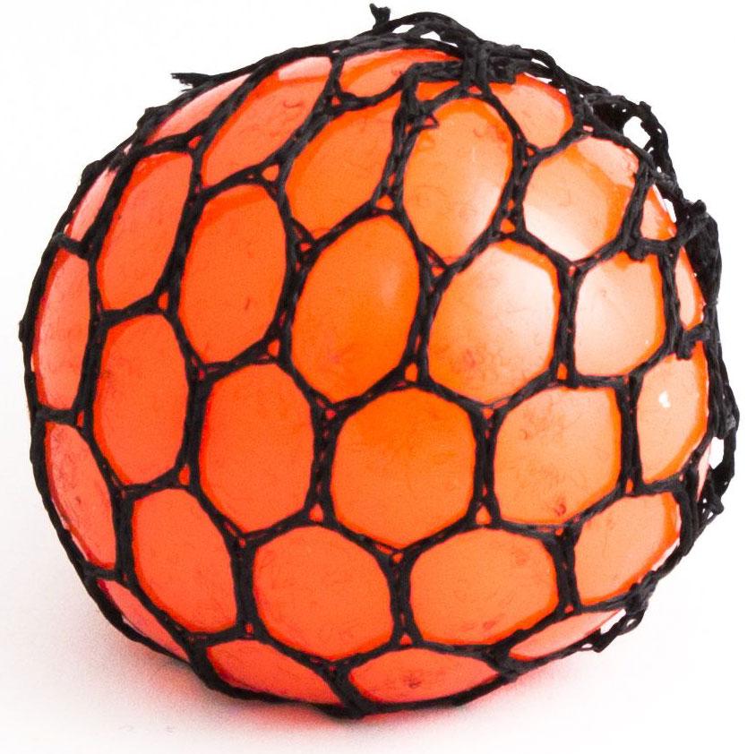 Игрушка-мялка Эврика Шарик, цвет: оранжевый цена