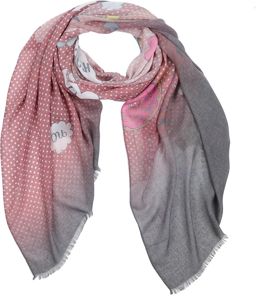 Фото - Шарф женский Fabretti, цвет: разноцветный. CX1718-83-2. Размер 75 x 185 см шарф женский fabretti цвет темно серый qf005 1 размер 190 см х 70 см