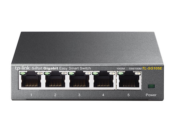 TP-LINK EasySmart TL-SG105E коммутатор (5 портов)