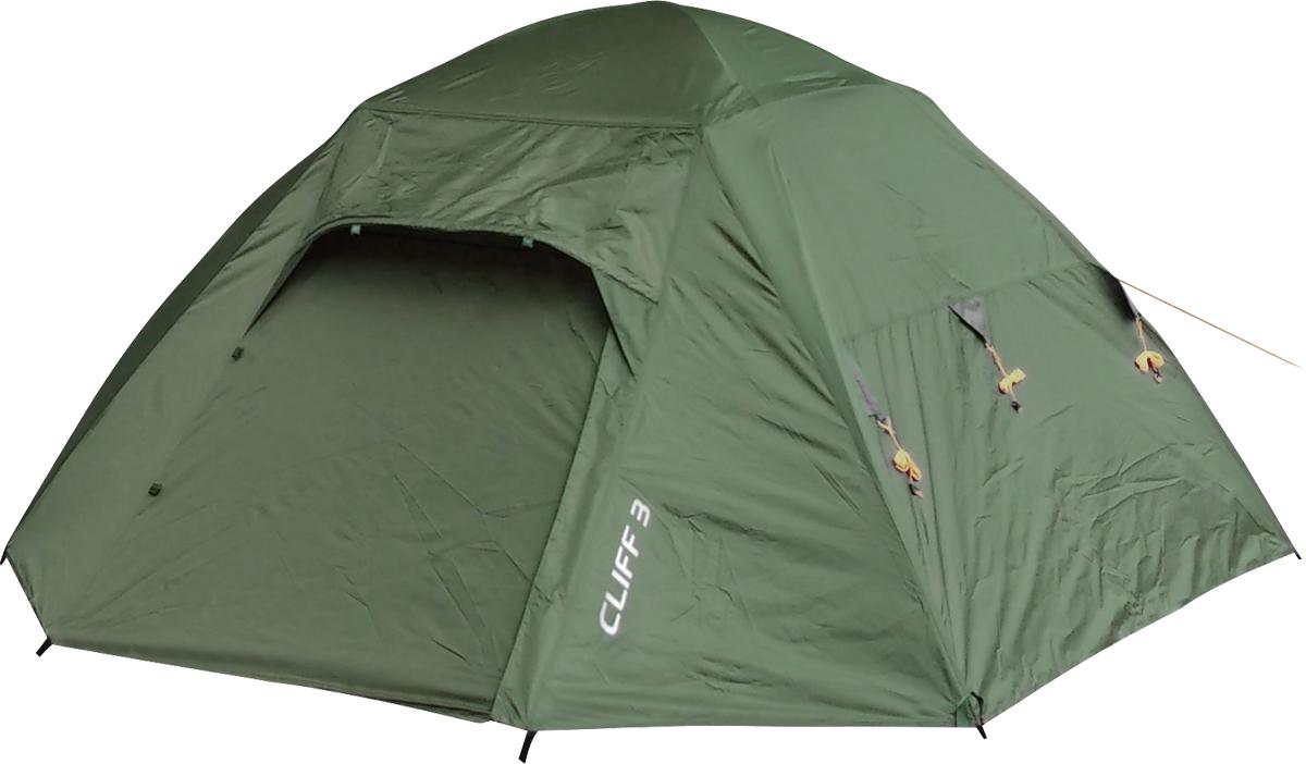 Палатка Сплав Cliff 3, 3-местная, цвет: зеленый