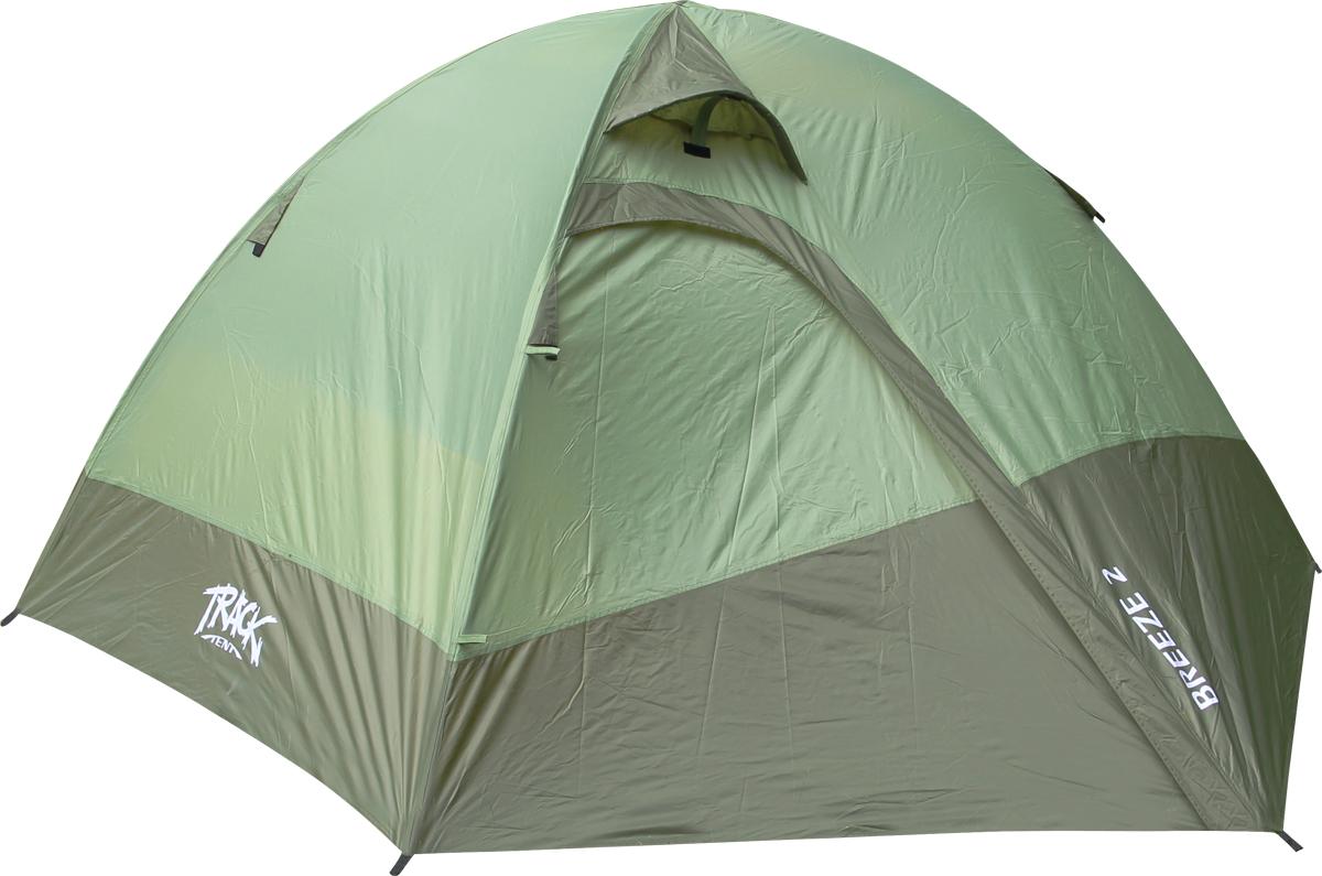 цена на Палатка Track Breeze 2, 2-местная, цвет: зеленый