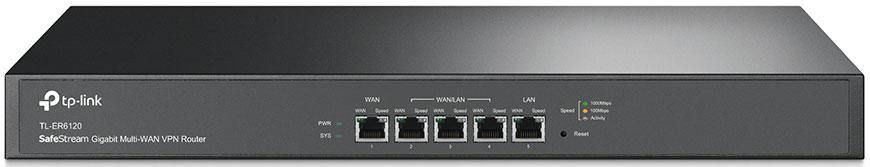 TP-LINK SafeStream TL-ER6120 маршрутизатор (2 порта) маршрутизатор tp link tl er6020 5 port gigabit multi wan vpn router