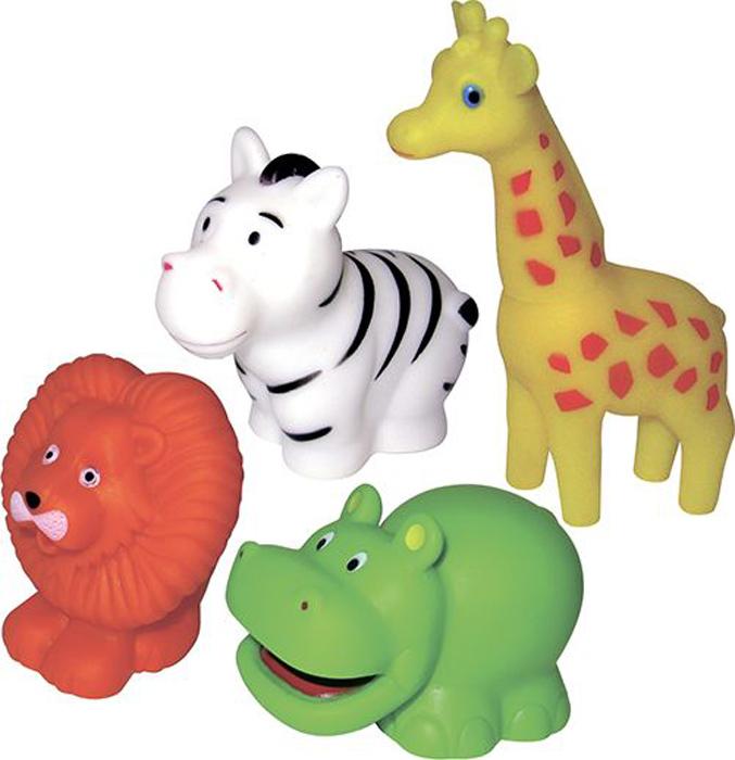ПОМА Набор игрушек для ванной Путешествие по Африке 4 шт жирафики набор игрушек для ванной лошадка и свинка