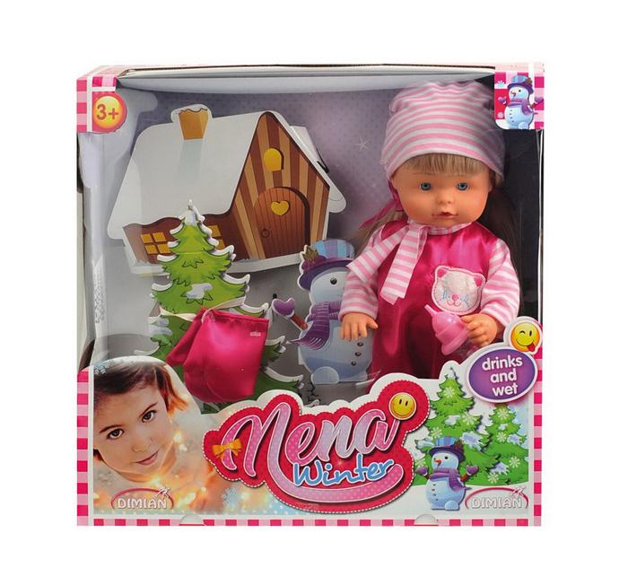 Dimian Игровой набор с куклой Baby Nena Зимний набор nena dortmund