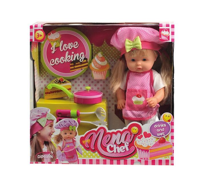 Dimian Игровой набор с куклой Baby Nena Шеф повар цена
