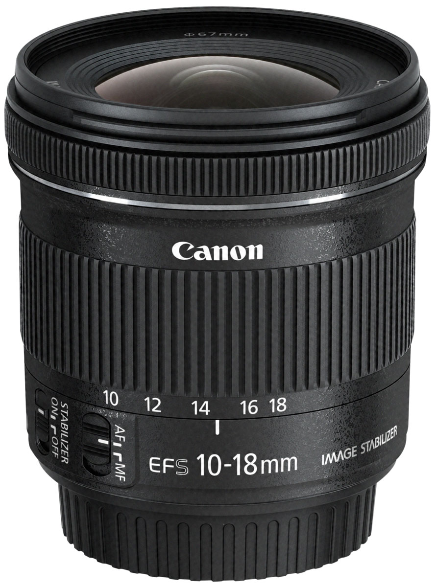 Объектив Canon EF-S 10-18 mm 4.5-5.6 IS STM, Black