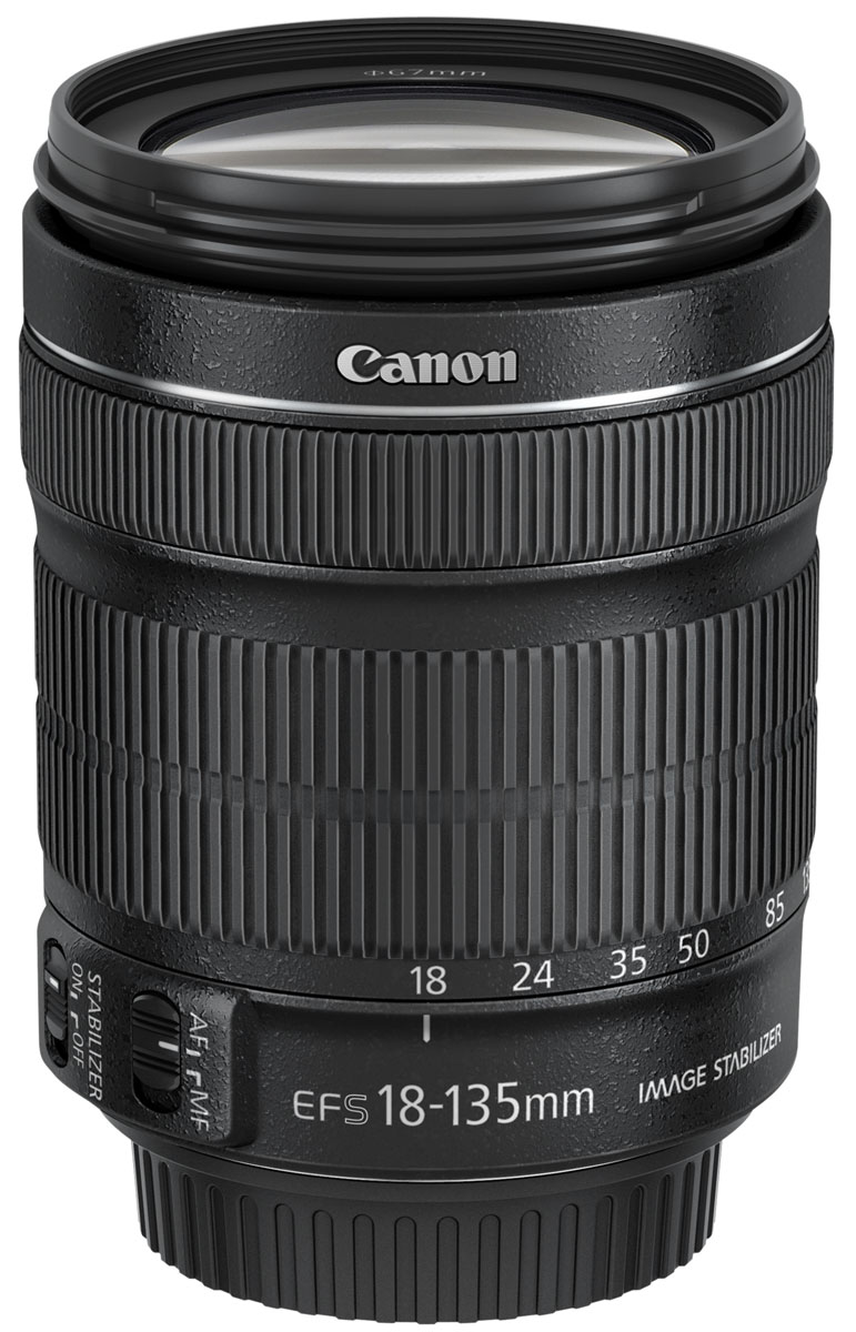 Объектив Canon EF-S 18-135 mm 3.5-5.6 IS STM, черный цена и фото