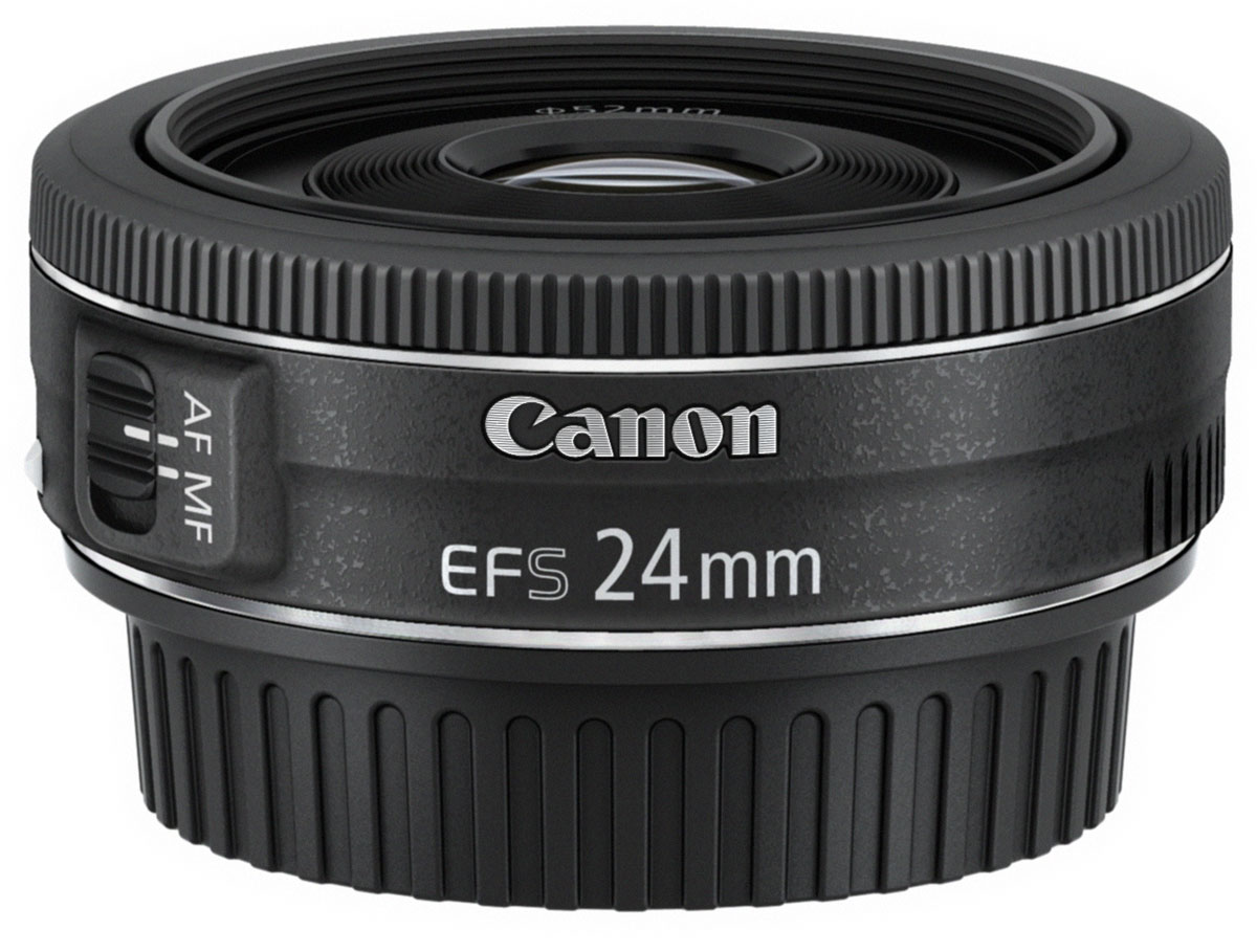 Объектив Canon EF-S 24 mm 2.8 STM, Black