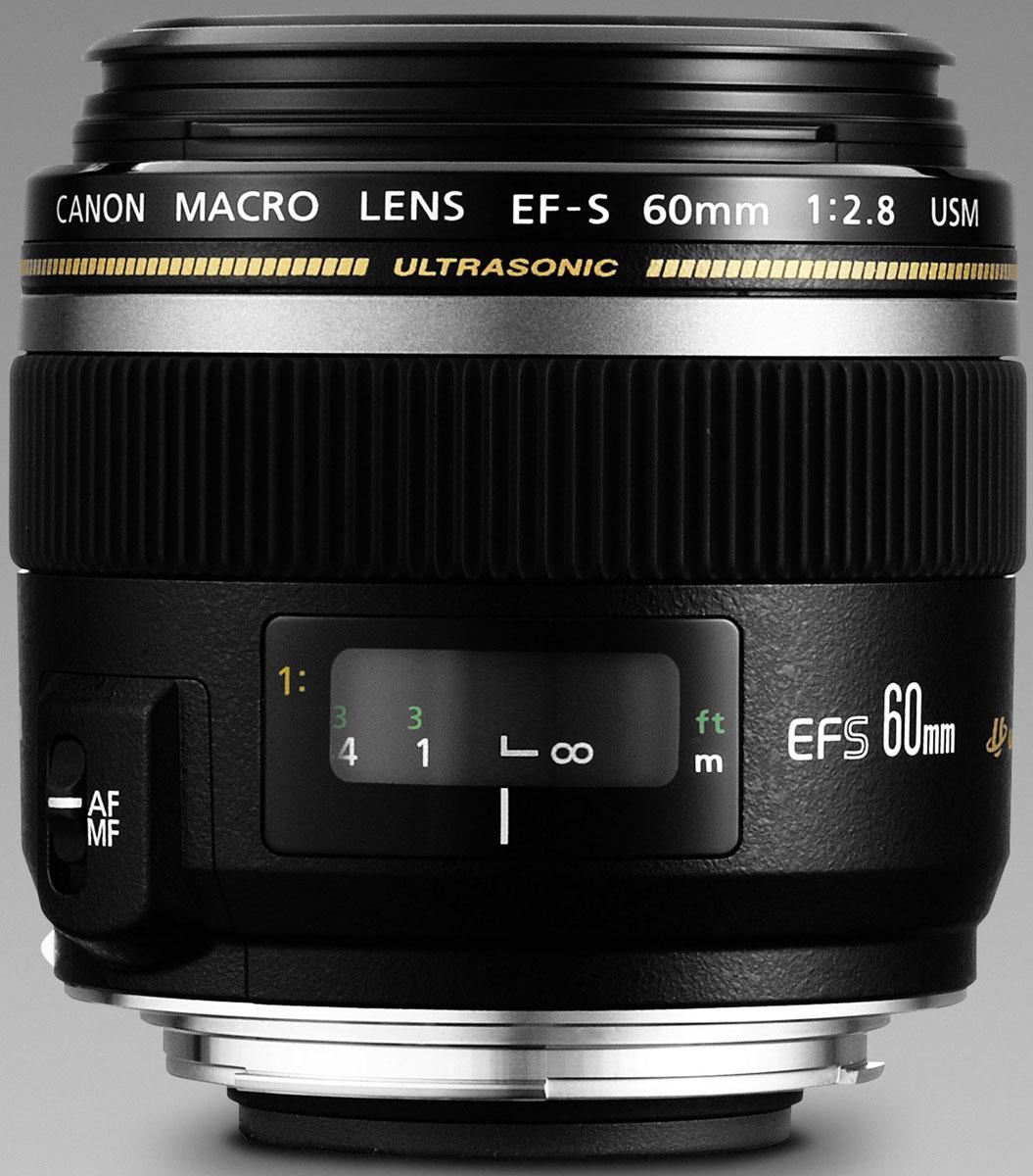 Объектив Canon EF-S 60 mm 2. 8 USM Macro, Black