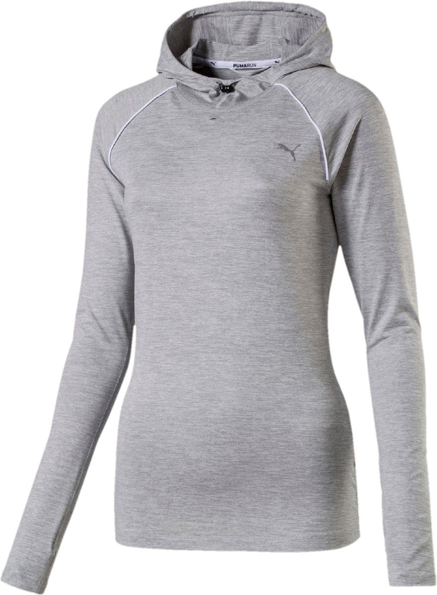 Лонгслив PUMA Run Hooded Top W лонгслив женский puma run hooded top w цвет светло серый 51628202 размер xl 48 50