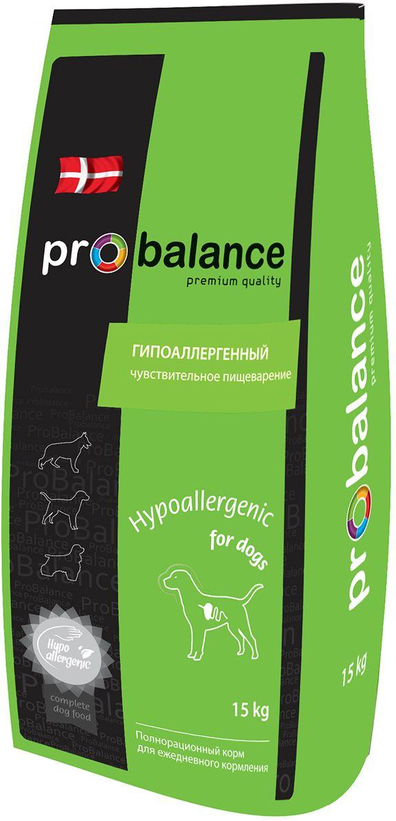 Корм сухой ProBalance Hypoallergenic для взрослых собак всех пород, 15 кг4607004706646Полнорационный сбалансированный сухой корм премиум класса для взрослых собак всех пород с чувствительным пищеварением. Рекомендуется для животных с чувствительным пищеварением и склонных к пищевой аллергии. Ограниченный набор ингредиентов снижает риск возникновения аллергических реакций, но в то же время рацион полностью удовлетворяет потребности животного в питательных веществах, витаминах и минералах. Рис оказывает благоприятное воздействие на слизистую оболочку кишечника, а пищевые волокна стимулируют его моторику и облегчают пищеварение. Состав: рис, ячмень, дегидратированное мясо птицы (23%), куриный жир, натуральные вкусоароматические добавки, яичный порошок, масло подсолнечное, витаминно-минеральная добавка для собак (витамины А, D3, Е, В1, В2, В3, В4, В5, В6, В9 (фолиевая кислота), В12, Н (биотин), железо, медь, цинк, марганец, йод, селен). Добавки, сохраняющие продукт: мико карб, натуральные антиоксиданты (смесь токоферолов). Гарантируемые показатели: сырой протеин 26 %, сырой жир 13 %, сырая зола 6 %, сырая клетчатка 2,5 %, кальций 1,2 %, фосфор 0,8 %, влажность 10 %. Товар сертифицирован.