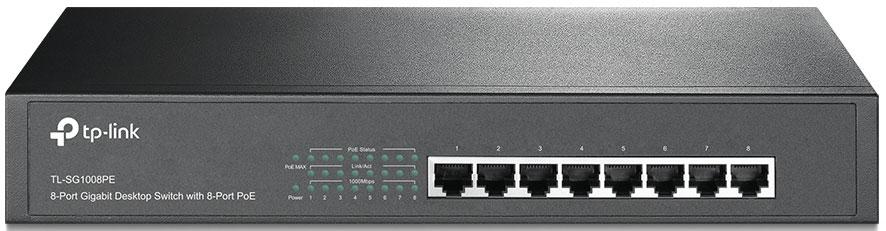 TP-LINK TL-SG1008PE коммутатор (8 портов)