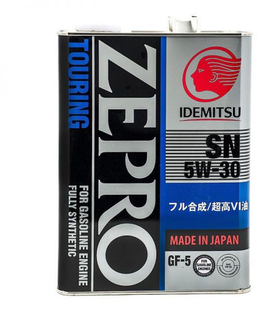 "Масло моторное IDEMITSU ""ZEPRO TOURING"", синтетическое, SAE 5W-30, API SN/GF, 4 л"