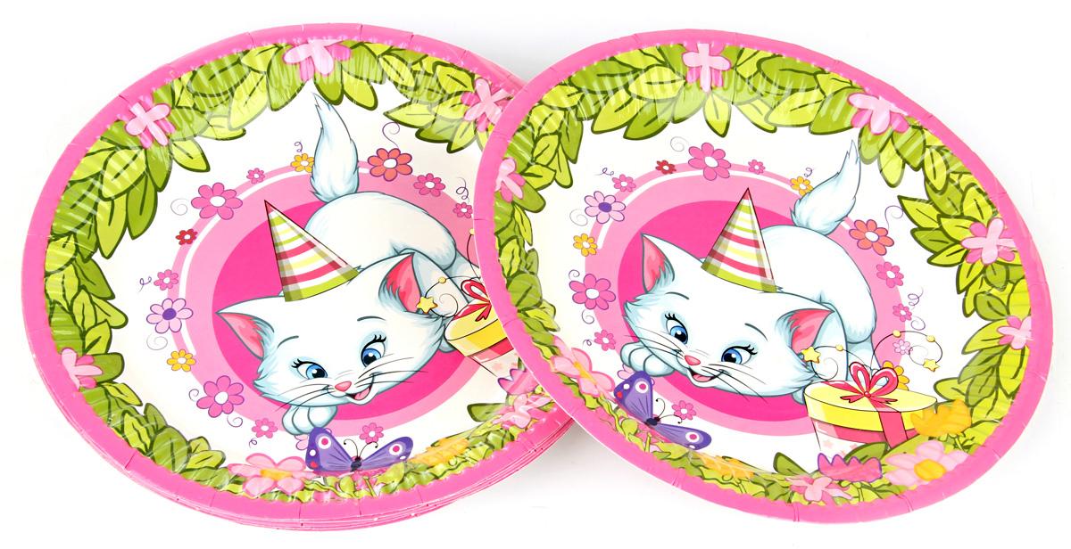 Веселый хоровод Набор тарелок Розовая фантазия диаметр 18 см 6 шт KL40944