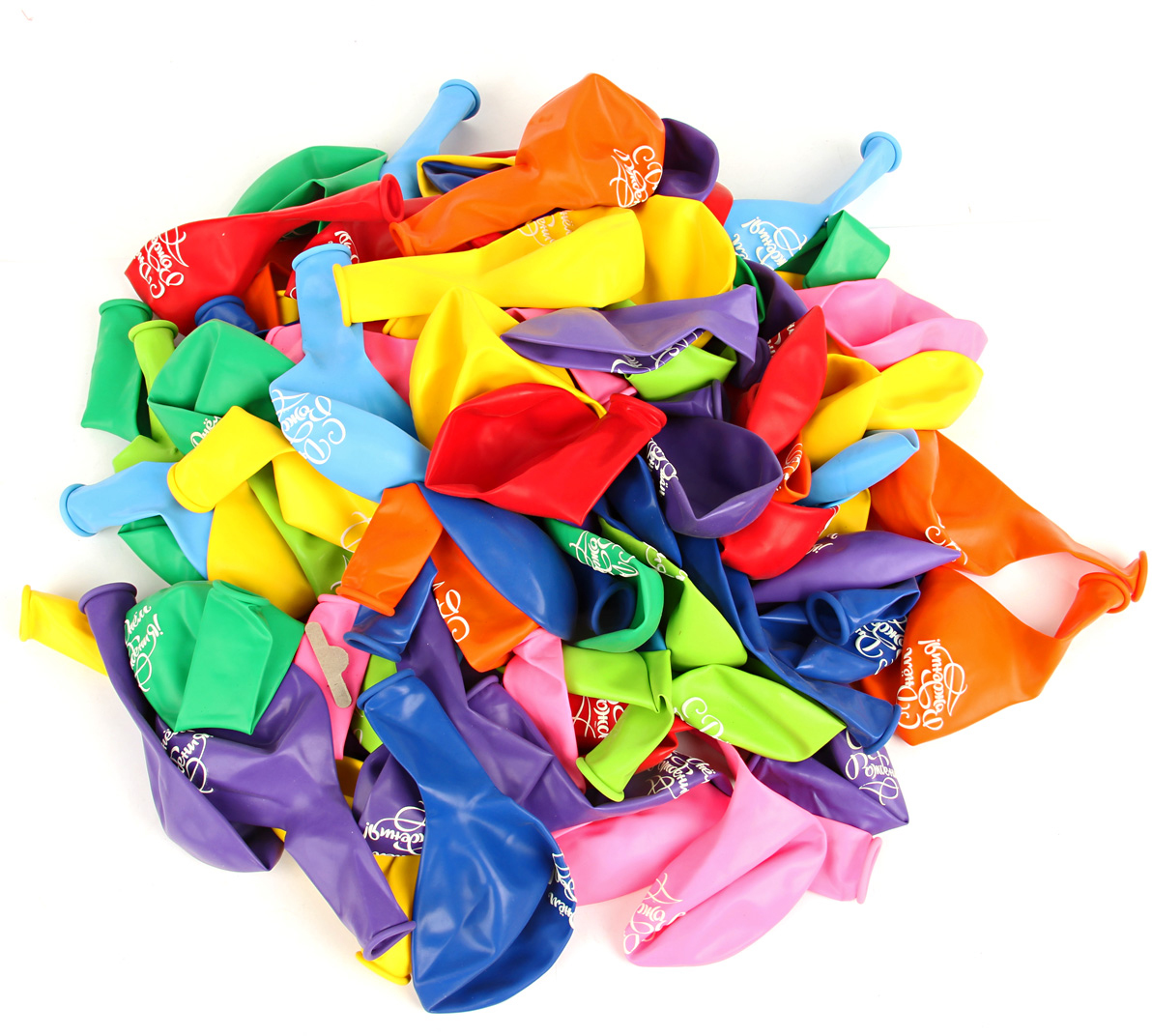 Веселый хоровод Набор воздушных шаров С днем рождения 30 см 100 шт