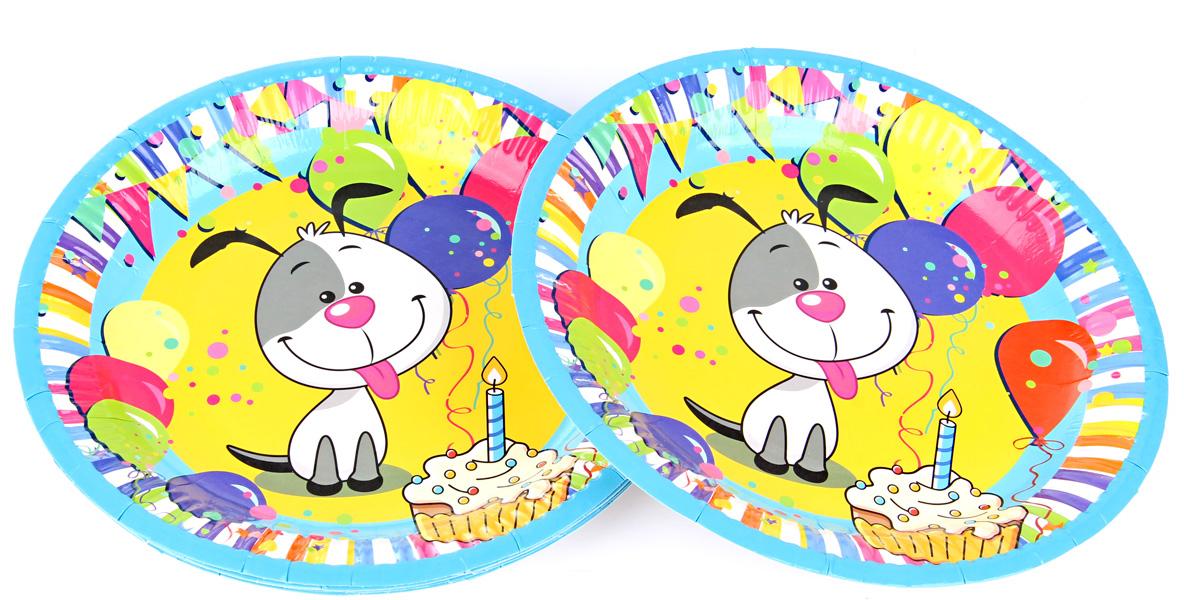 Веселый хоровод Набор тарелок Счастливый Шарик диаметр 18 см 6 шт KL53464 веселый хоровод набор горнов разноцветные котики 6 шт