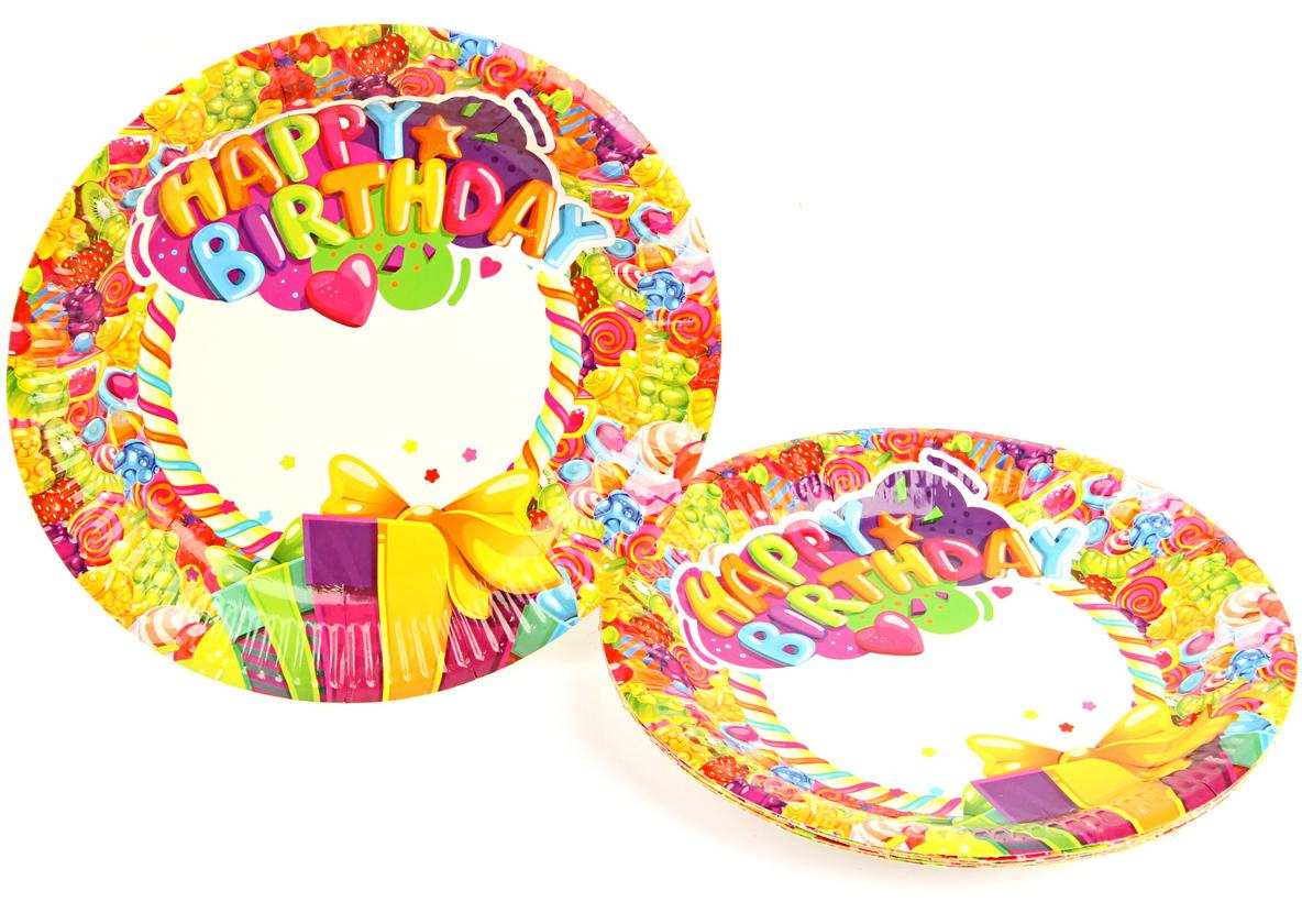 Веселый хоровод Набор тарелок Карамелька диаметр 18 см 6 шт