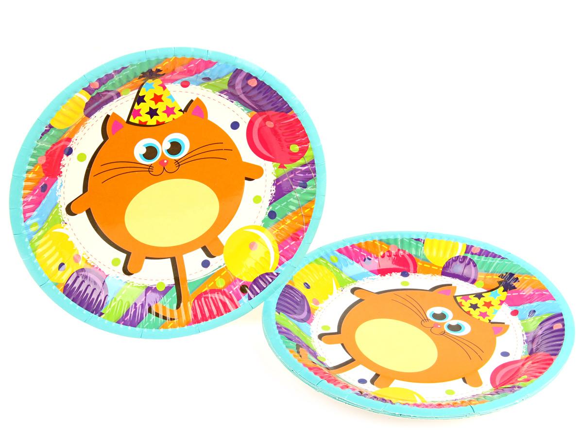 Веселый хоровод Набор тарелок Разноцветные котики диаметр 18 см 6 шт веселый хоровод набор горнов разноцветные котики 6 шт