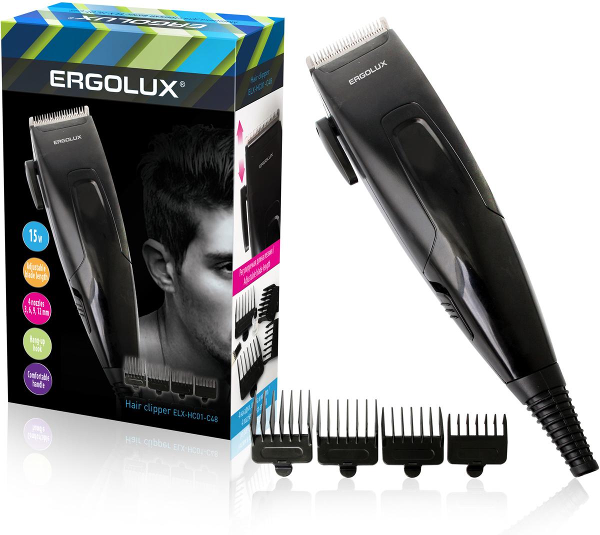лучшая цена Машинка для стрижки Ergolux 13135, черный