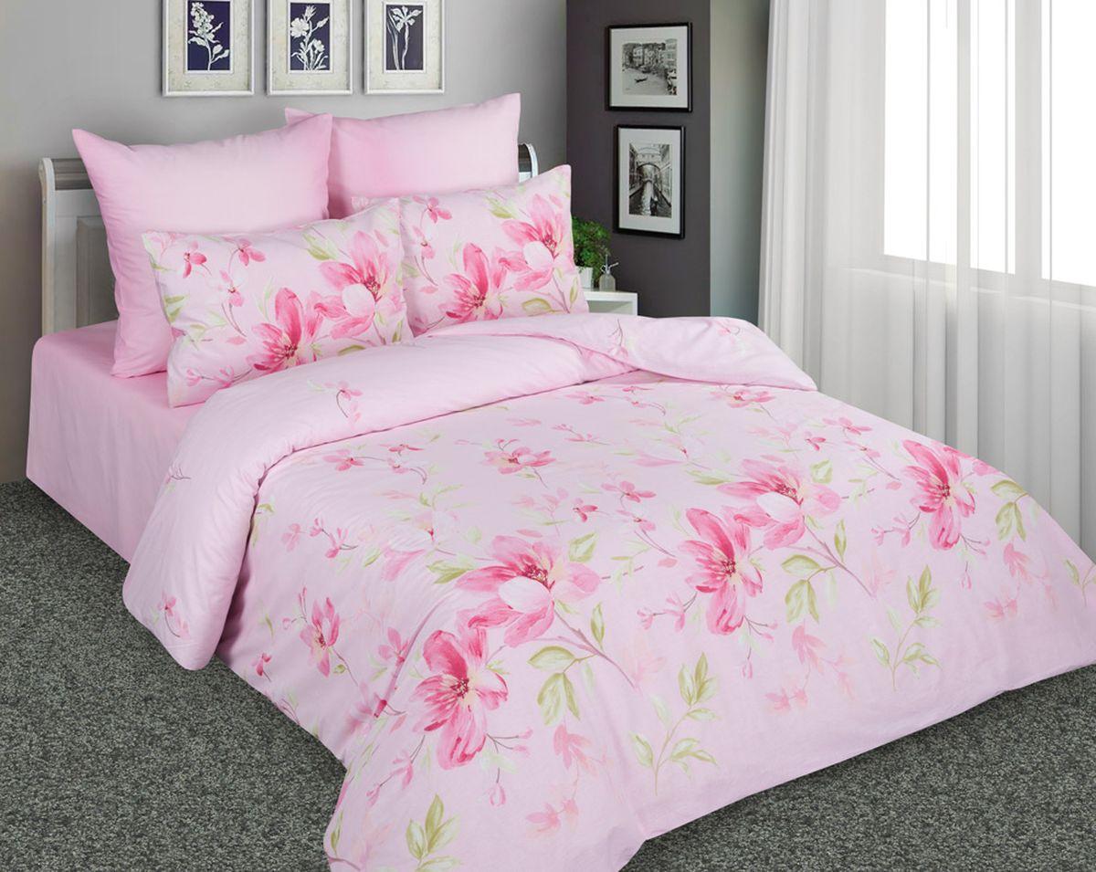 Комплект белья Amore Mio 7217/7218 1, 2-спальный, наволочки 70x70, цвет: розовый