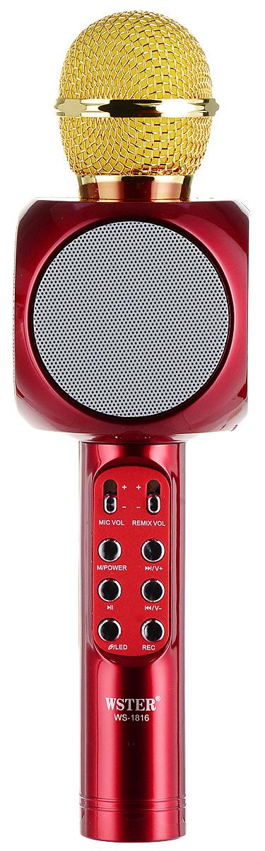 лучшая цена Караоке микрофон Karaoke Boom KB-WS1816RU, Red