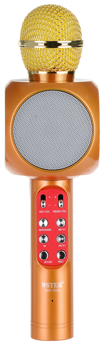 лучшая цена Караоке микрофон Karaoke Boom KB-WS1816RU, Gold