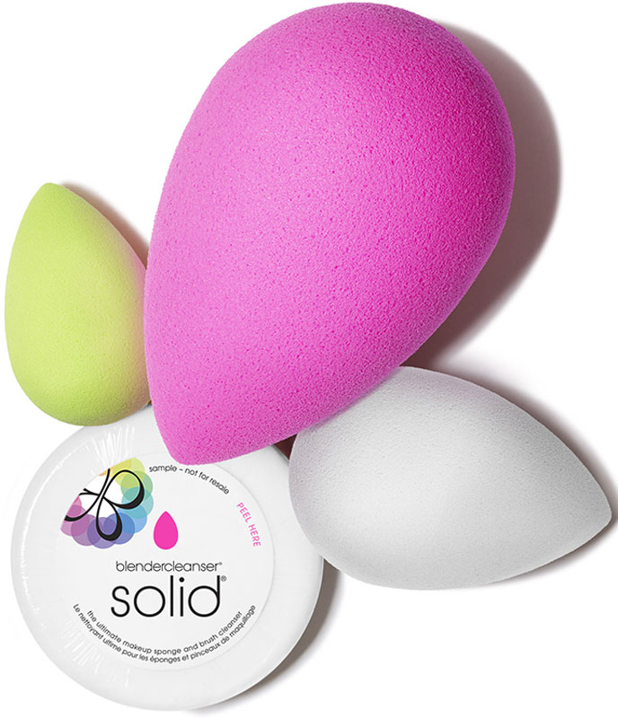 Beautyblender Набор косметический all.about.face set: Спонж Beautyblender original + Спонж Micro.mini + Спонж Beauty.blusher + Мини-мыло Blendercleanser
