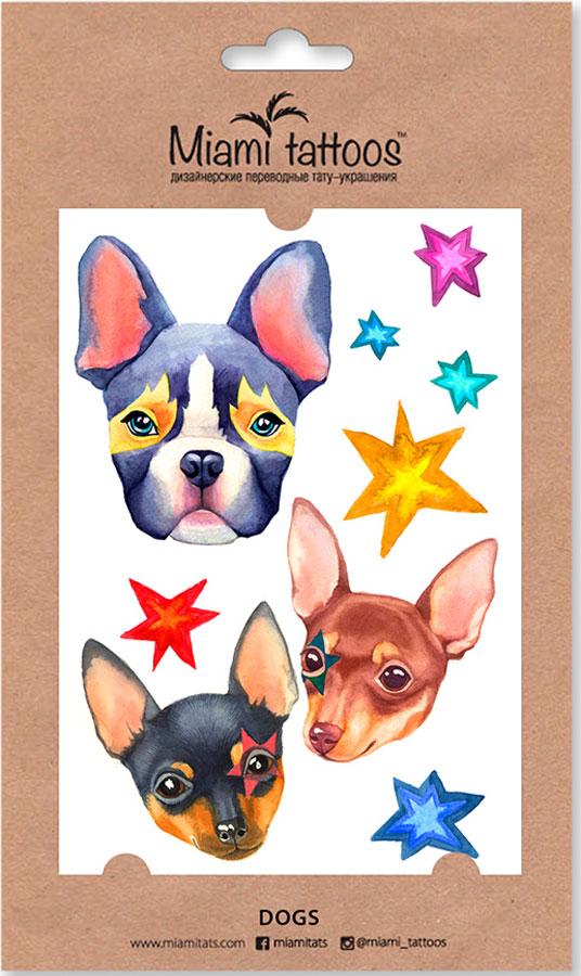 Miami Tattoos Акварельные переводные тату DogsMT0086Miami Tattoos - это дизайнерские переводные тату-украшения, которые наносятся за минуту. Акварельные переводные татуировки – тренд последнего сезона, который задают всемирно известные татуировщицы Sasha Unisex, Pissaro, Ritkit. Очаровательные собаки - французский бульдог, той-терьер и чихуахуа — символы 2018 года и новые персонажи акварельной коллекции татуировок Glam Animals. Для производства Miami Tattoos используются только качественные, яркие и стойкие краски. Они не вызывают аллергию и продержатся несколько дней.