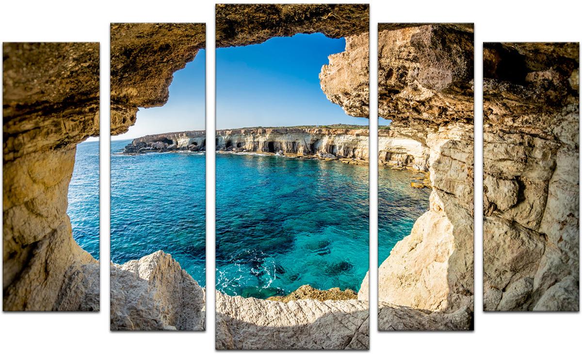 Картина модульная Картиномания Окно в море, 90 х 57 см, Дерево, Холст цена