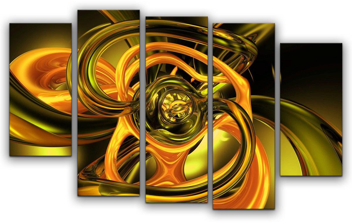 Картина модульная Картиномания Абстракция полиптих, 90 х 57 см, Дерево, Холст картина модульная картиномания модный антиквариат 90 х 57 см дерево холст