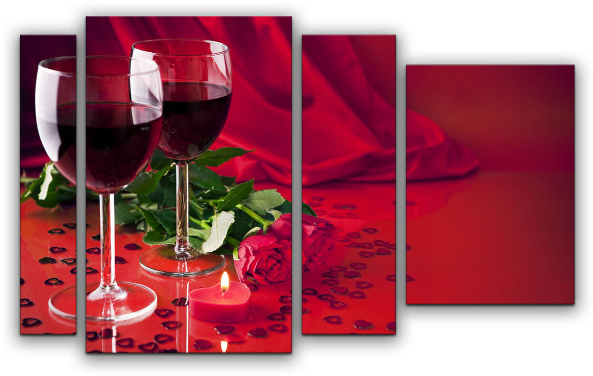 Картина модульная Картиномания Романтический вечер, 90 х 57 см, Дерево, Холст