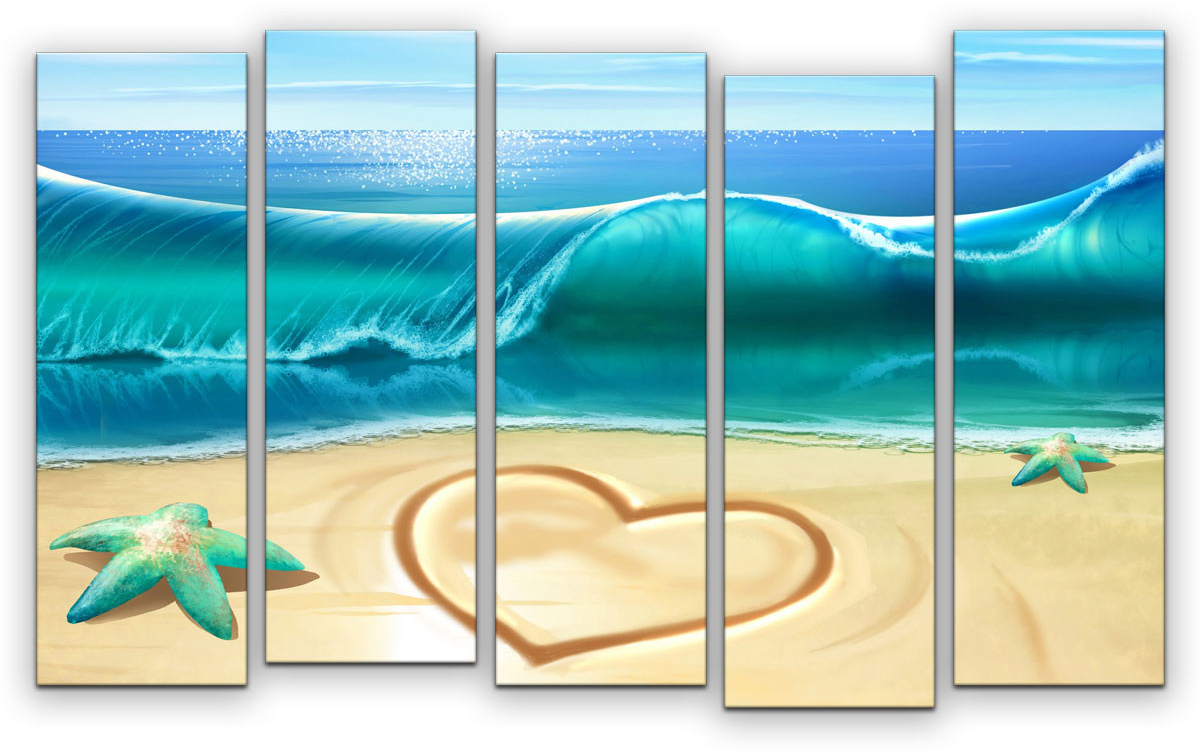 Картина модульная Картиномания Бирюзовое море, 90 х 57 см, Дерево, Холст цена