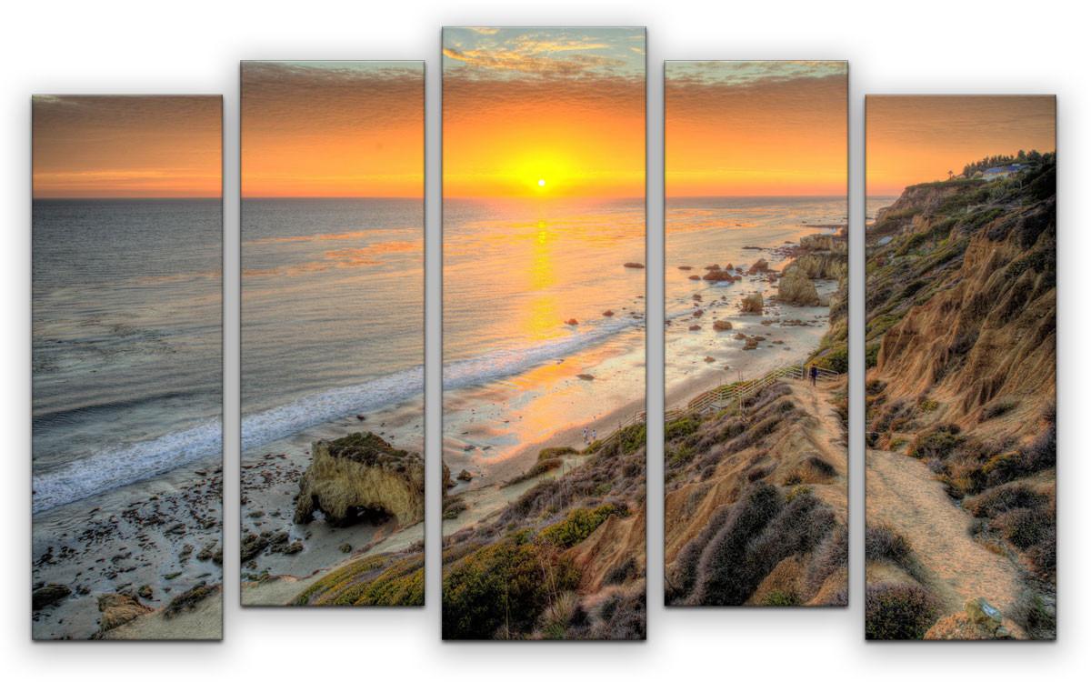 Картина модульная Картиномания Райский вечер, 90 х 57 см, Дерево, Холст картина модульная картиномания красный бриллиант 90 х 57 см