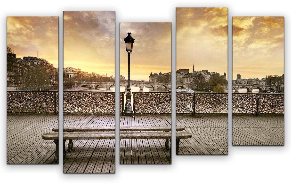 Картина модульная Картиномания Место встречи, 90 х 57 см, Дерево, Холст картина модульная картиномания красный бриллиант 90 х 57 см