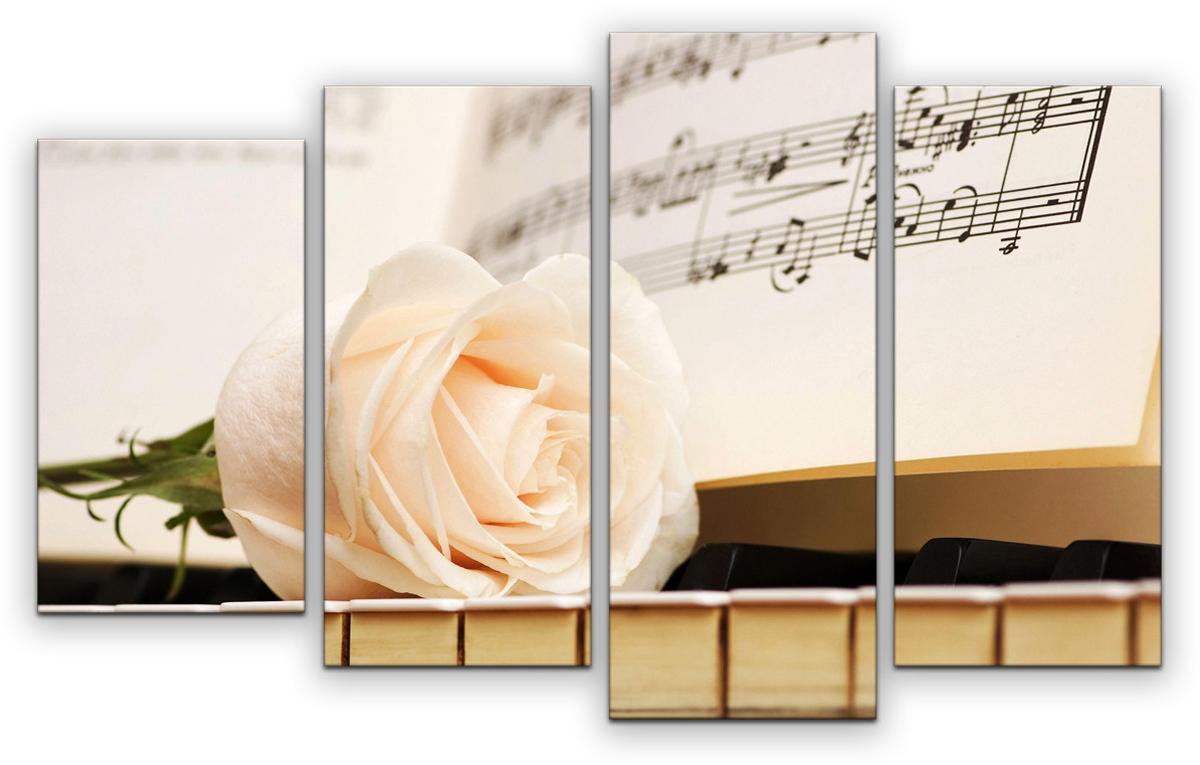 Картина модульная Картиномания Музыка жизни, 90 х 57 см, Дерево, Холст картина модульная картиномания красный бриллиант 90 х 57 см