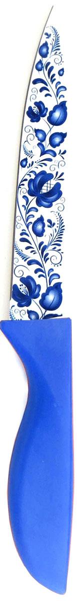 "Нож кухонный ""Miolla"", цвет: синий, длина лезвия 12,5 см"