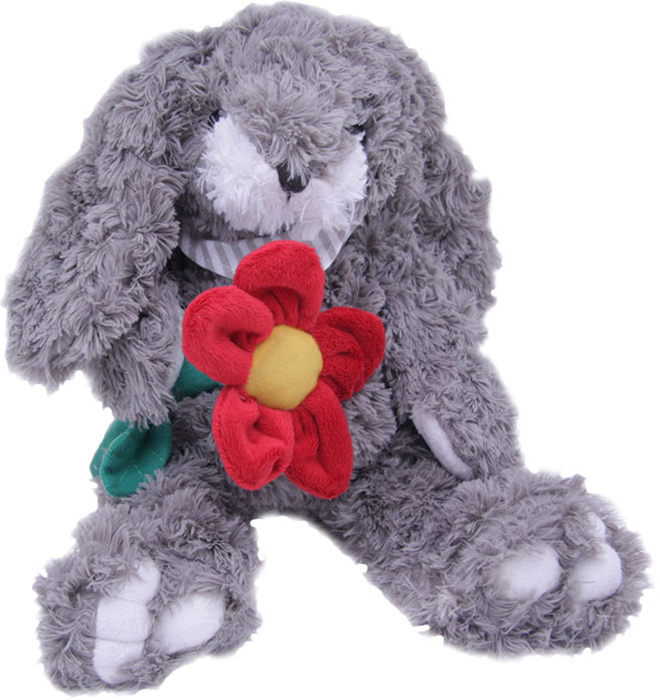 Magic Bear Toys Мягкая игрушка Заяц Гарольд с цветком 23 см