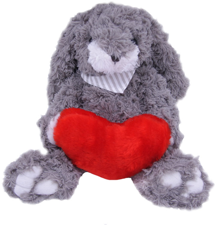 Magic Bear Toys Мягкая игрушка Заяц Гарольд с сердцем 23 см