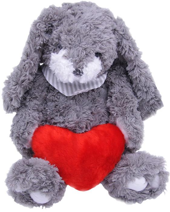 Magic Bear Toys Мягкая игрушка Заяц Гарольд с сердцем 26 см