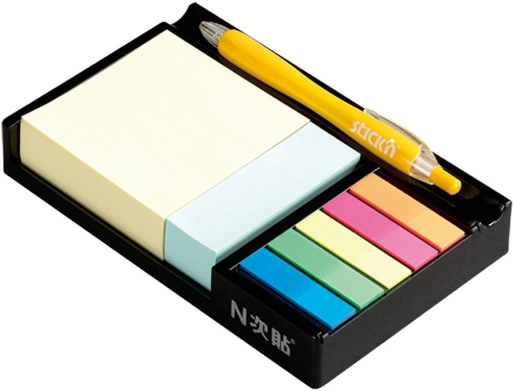 Stick'n Набор для записей 2 блока 200 и 125 листов + Закладки пластиковые 822733