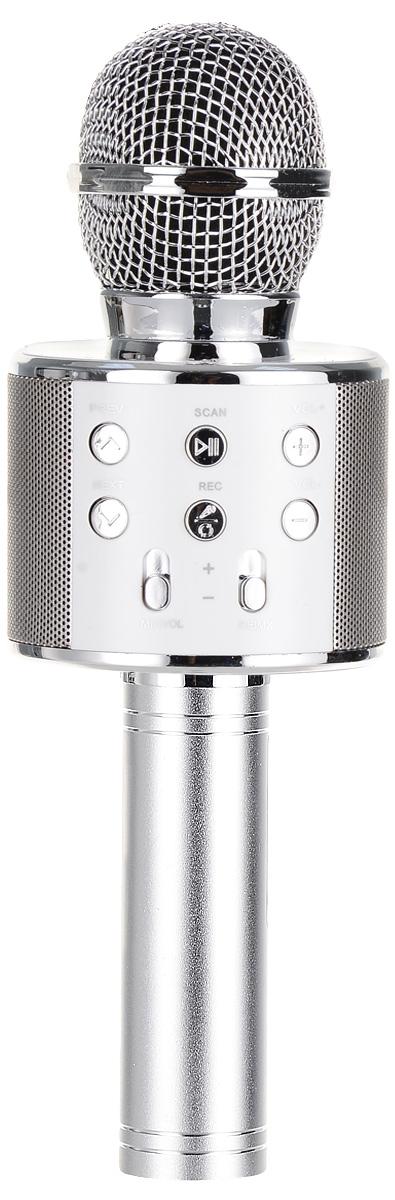лучшая цена Karaoke Boom KB-WS858RU, Silver микрофон