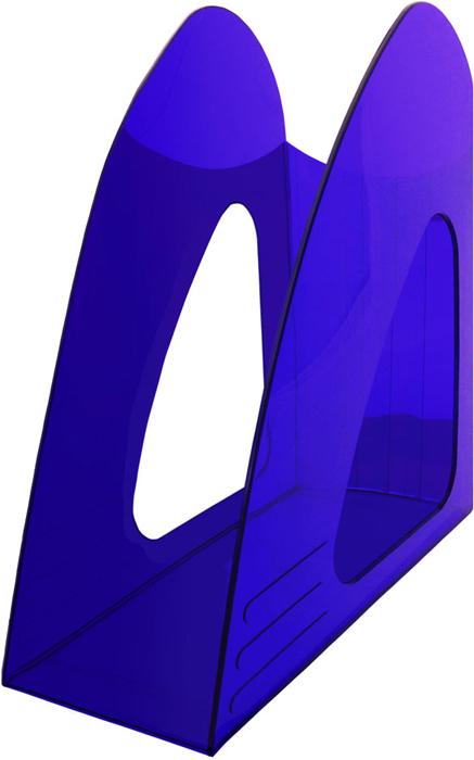 Hatber Лоток вертикальный цвет синий тонированный 23,5 х 9 х 24 см047417Оригинальный и компактный вертикальный лоток без ограничителя предназначен для хранения неформатных папок, бумаг и печатных изданий.