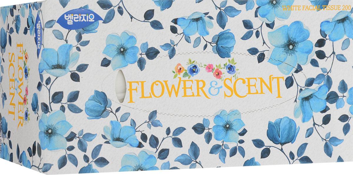 """Салфетки для лица """"Monalisa"""", цвет: белый, голубой, 200 шт"""